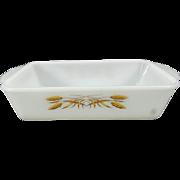 Anchor Hocking Fire King Wheat Pattern #409 Rectangular Casserole Dish