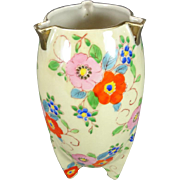 Gold Castle Hand Painted Chikusa Footed Vase Circa 1920's-1940's