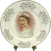 Rosenthal H.M. Queen Elizabeth II Commemorative Plate with Gold Trim