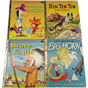 Vintage Set of 4 Little Golden Books Children's Stories