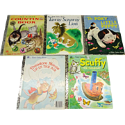 A Little Golden Book Set of 5 Story Books Collection