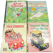 A Little Golden Book Collection of 4 Children's Stories
