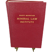Rocky Mountain Mineral Law Institute #37
