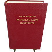 Rocky Mountain Mineral Law Institute #36