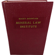 Rocky Mountain Mineral Law Institute #26