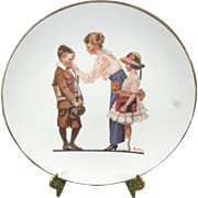 Norman Rockwell Off to School Collector's Plate c. 1980