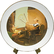 Norman Rockwell Artist's Daughter Collector's Plate c. 1981
