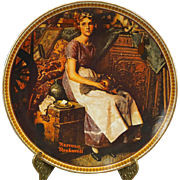 Edwin Knowles Norman Rockwell Decorative Plate Dreaming in the Attic