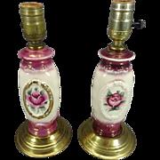 Pair of Beautiful Vintage Porcelain Lamps