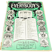 Everybody's Favorite Songs (Series No. 1) Sheet music – 1933