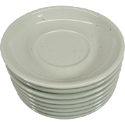 Trend Pacific Galaxy Milkstone White Set of 8 Saucers