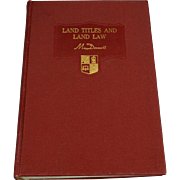 Deskbook on Land Titles and Land Law by Thomas McDermott