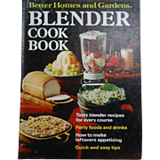Blender Cook Book Better Homes and Gardens