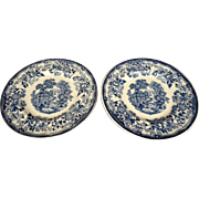 2 Royal Staffordshire Tonquin Pattern Bread & Butter Plates c. 1930's-40's