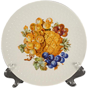 6 x Mitterteich-Bavaria decorative plates with fruit drawings