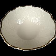 Lenox China Nut Bowl Sylvan Pattern with 24K Gold Rim c 1960s - 80s