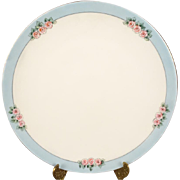 Antique Victorian Thomas Bavaria Porcelain Plate With Pink Roses c. 1908-1939