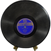 "Eddie Elkins 78 RPM Columbia Records "" Blue/Who Cares"""