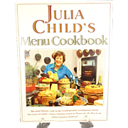 Julia Child's Menu Cookbook by Julia Child 1991 Hardcover with Dust Jacket