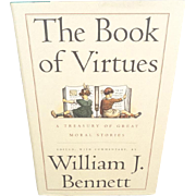 The Book of Virtues by William J. Bennett Hardcover 1993
