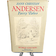 Hans Christian Anderson Fairy Tales Book,  Flensted Odense-Denmark Edition c. 1950's