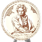 Vintage 1930's-50's Vernonware Composer Series Plate Beethoven