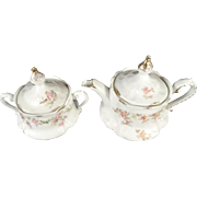 "Vintage Z.S. & C. Bavaria ""Irma""  Covered Sugar Bowl and Creamer Set"