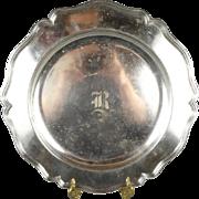 """Vintage BSCEP N.S. Nickel Silver Plated 14"""" Serving Platter"""