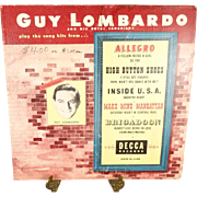 Vintage Guy Lombardo and his Royal Canadians Broadway Song Hits Decca 4 Record Set 33LP ...
