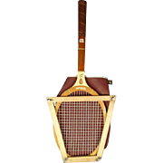 Vintage Jack Kramer Autograph Wooden Tennis Racquet Wilson Frame & Cover