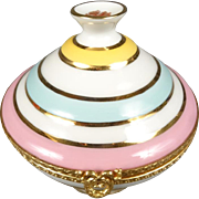Imperia Limoges Trinket Jar with 22K gold Trim