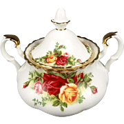 Royal Albert Bone China Sugar Bowl w/ Lid in Old Country roses Pattern