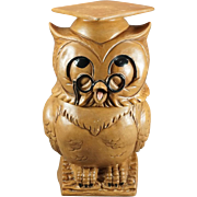 Twin Winton Graduation Owl Cookie Jar c. 1960s
