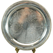 """International Silver Co. Silverplated 12"""" Round Serving Platter"""