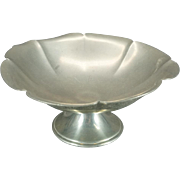 Vintage New Amsterdam Silver Co P235 Pewter Footed Dish - Bent