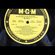 GIGI Original Cast Sound Track Album on LP Record