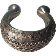 SALE Benin Tribal Silver Alloy Armband - Ancient piece