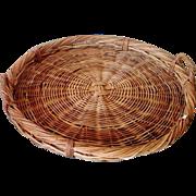 SALE Huge Vintage Two-Handle Commercial Harvest Basket