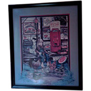 SALE Chase N' The Chickens Signed Limited Edition Print by Thereasa Ramsey - Framed