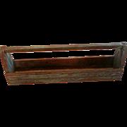 Primitive Wood Planter Box in Old Bluish Green Milk Paint