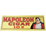 SALE 1974 Sanford J Heilner Inc. Napoleon Cigar 10 Cent Advertisement Tin Sign