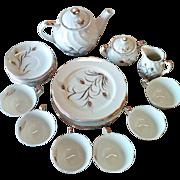 SALE Lefton Hand Painted 23 Piece Tea Set  Circa 1958.