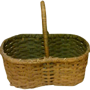 SALE Vintage Primitive Hand-made Split Oak Harvest - Gathering - Egg Basket