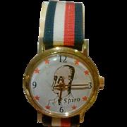SALE Vice President Spiro Agnew Character Wrist Watch Circa: 1970 - Works
