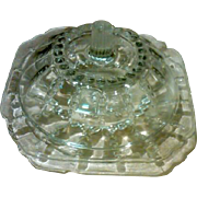 "SALE Federal Glass ""Columbia"" 2-Pc Domed Butter Dish.  Circa:1938-42"