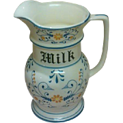 "Heritage ""Blue Onion"" Pattern Milk Pitcher by Royal Sealy Circa: 1950"