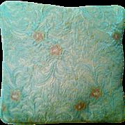 SALE Vintage Brocade Boudoir Pillow