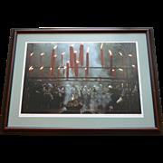 "REDUCED 1980s China, Hangzhou, ""Ancestor Worship"", original framed photo, Kubota"
