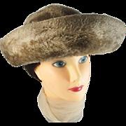 Vintage faux fur plush hat MELANIE MODES Italy