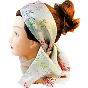 Unique vintage silk rayon long bow tie scarf. Baar and Beards